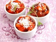 草莓沙拉  免版税图库摄影