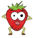 草莓漫画人物 免版税图库摄影图片