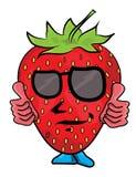 草莓漫画人物 库存照片图片