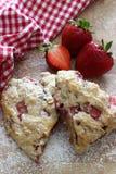 草莓烤饼 库存图片