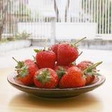 草莓焦点 免版税图库摄影