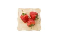草莓焦点 免版税库存图片