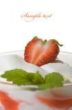 草莓甜点 免版税图库摄影
