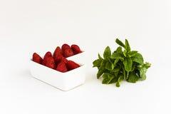 草莓用薄菏 图库摄影