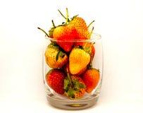 草莓白色孤立 库存照片