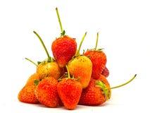 草莓白色孤立 免版税库存图片