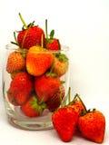 草莓白色孤立 免版税图库摄影