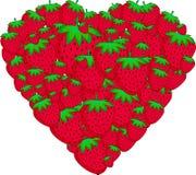 草莓的心脏 免版税图库摄影