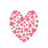 草莓的心脏 免版税库存图片