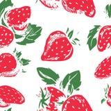 草莓的样式 免版税图库摄影
