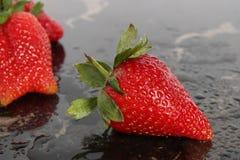 草莓的特写镜头 免版税库存图片