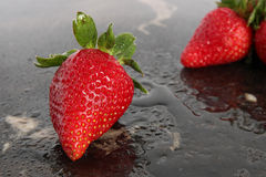 草莓的特写镜头 免版税图库摄影