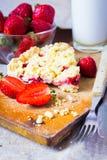 草莓碎屑 免版税库存照片