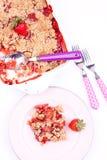 草莓碎屑 免版税库存图片