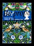 草莓窃贼威廉・莫里斯,英国纺织品serie,大约1982年 库存照片