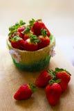 草莓篮子 库存照片
