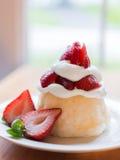 草莓脆饼 图库摄影
