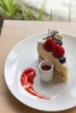 草莓脆饼 免版税图库摄影