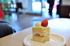 草莓脆饼 免版税库存图片