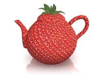 草莓茶壶 库存照片