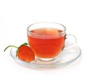 草莓茶 免版税库存照片