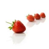 草莓蒙太奇 库存图片