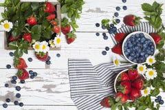 草莓蓝莓 库存照片