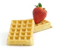 草莓薄酥饼 免版税库存图片