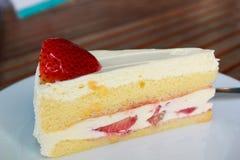 草莓蛋糕。 库存图片