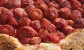 草莓蛋糕特写镜头 库存图片