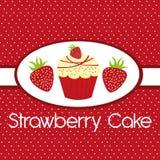 草莓蛋糕 库存例证