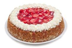 草莓蛋糕 图库摄影