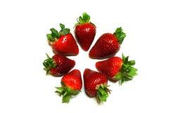 草莓被排行的圈子 图库摄影