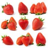 从草莓设置 免版税图库摄影