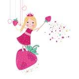 草莓逗人喜爱的童话传染媒介 免版税图库摄影
