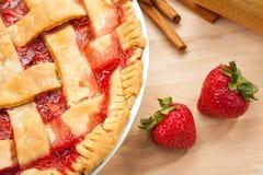 草莓饼 免版税库存图片