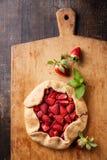 草莓饼 库存照片