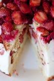 草莓饼 免版税图库摄影