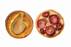 草莓馅饼和梨馅饼 免版税库存图片