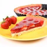 草莓馅饼 图库摄影