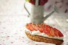 草莓馅饼 库存照片