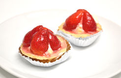 草莓馅饼 免版税库存图片
