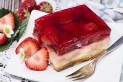 草莓馅饼 免版税库存照片