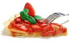 草莓馅饼 免版税图库摄影