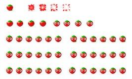 草莓魍魉飞溅 库存照片