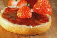 草莓,果酱,橘子果酱 库存图片