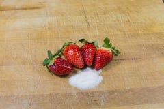 草莓,红色果子 免版税图库摄影