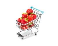 草莓购物 免版税图库摄影