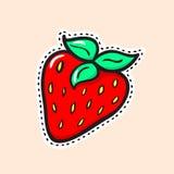 草莓贴纸 免版税库存照片