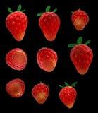 草莓3d回报 免版税库存照片